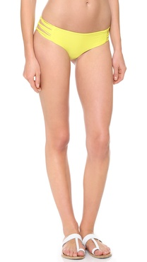 MIKOH SWIMWEAR Velzyland String Bikini Bottoms