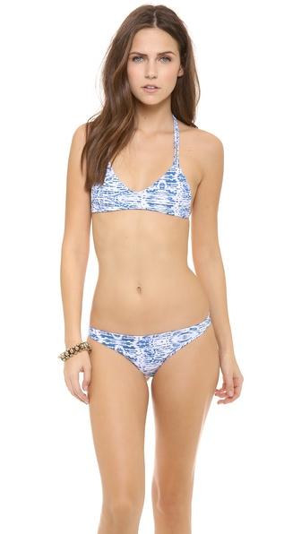MIKOH SWIMWEAR Uluwatu T Strap Bikini Top