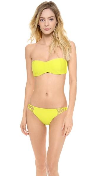 MIKOH SWIMWEAR Tulum Bandeau Bikini Top