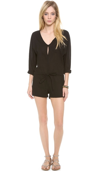 MIKOH SWIMWEAR Hawaii Long Sleeve Romper