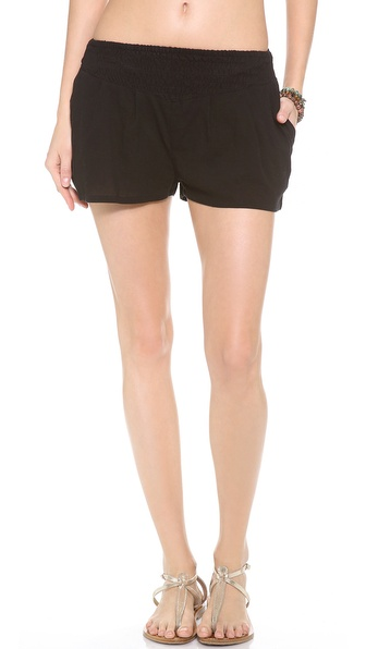 MIKOH SWIMWEAR Sayulita Ruched Shorts