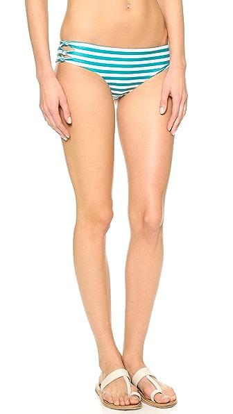 MIKOH Hanalei Cutout Knot Detail Bikini Bottoms