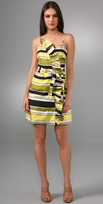 Milly Ruffle Harbor Stripe Dress