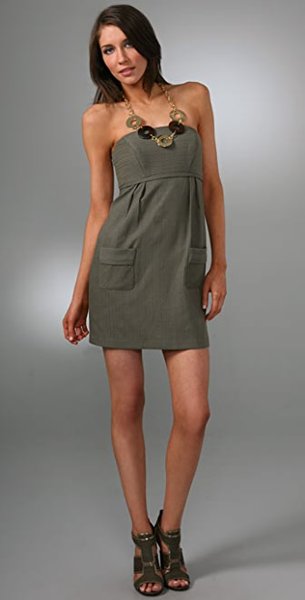 Milly Strapless Pocket Dress