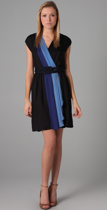 Milly Combo Wrap Dress