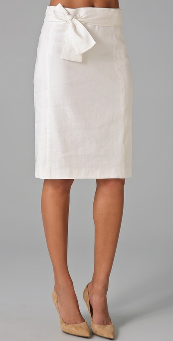 Milly Iris Tie Pencil Skirt