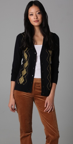 Milly Argyle Boyfriend Cardigan
