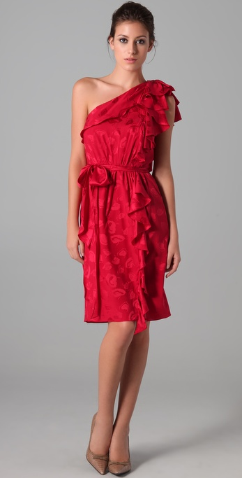 Milly Lotta Ruffle Dress