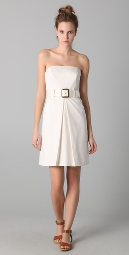 Milly Obelisk Strapless Dress