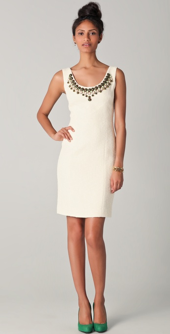 Milly Kaylee Tweed Beaded Dress