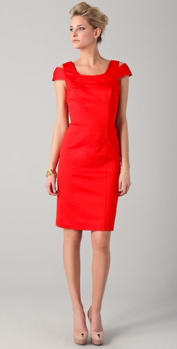Milly Keithly Topstitched Sheath Dress
