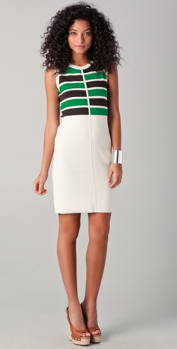 Milly Eliza Striped Knit Dress