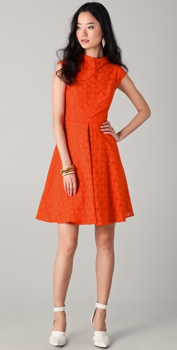 Milly Avery Cap Sleeve Dress