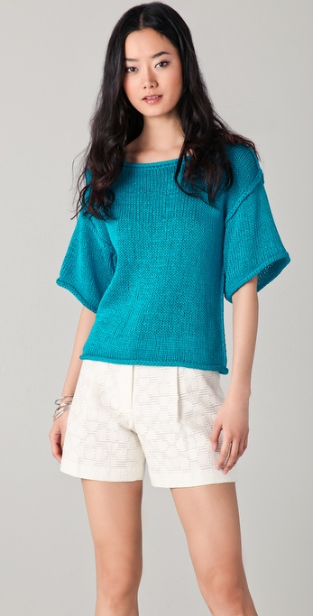 Milly Stella Cropped Sweater
