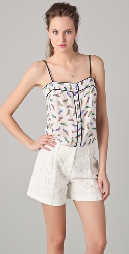 Milly Parakeet Print Caroline Camisole