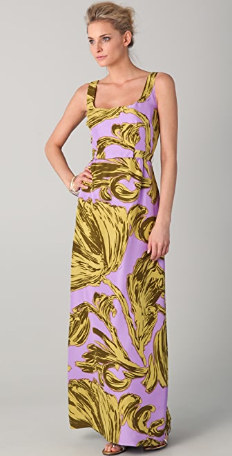 Milly Leslie Print Hostess Dress