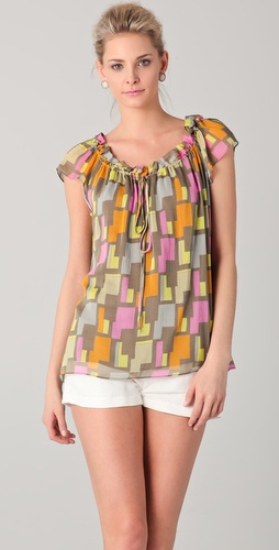 Milly Kara Print Blouse