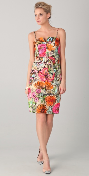 Milly Jessica Notch Print Dress