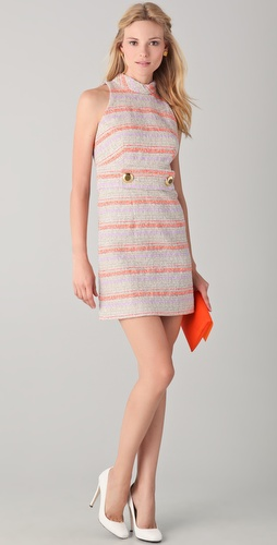 Milly Erin Peek-A-Boo Tweed Dress