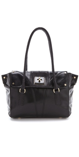 Milly Gabriella Luxe Leather Satchel
