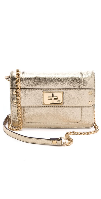 Milly Elle Metallic Leather Mini Bag