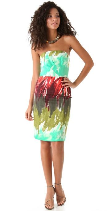 Milly Brushstroke Kali Strapless Dress