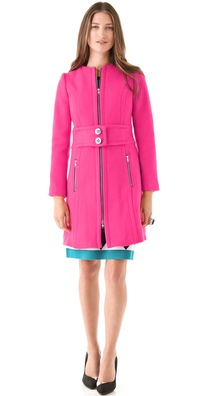 Milly Bo Zipper Coat