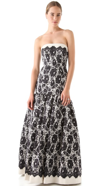 Milly Allegra Strapless Gown