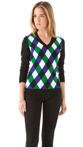 Milly Intarsia Jockey Sweater