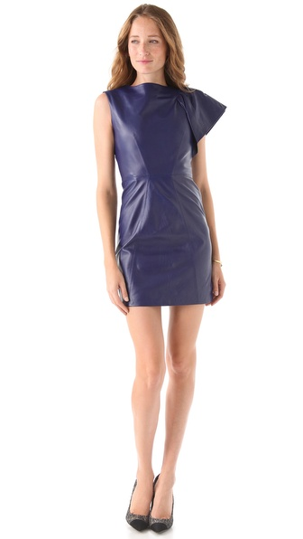 Milly Fiona Leather Dress