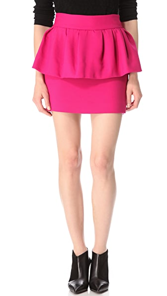 Milly Laurel Peplum Skirt