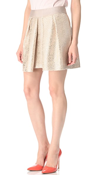 Milly Naomi Pleat Skirt