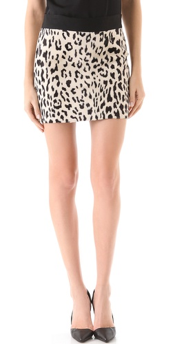 Shop Milly Snow Leopard Mini Skirt and Milly online - Apparel,Womens,Bottoms,Skirts, online Store