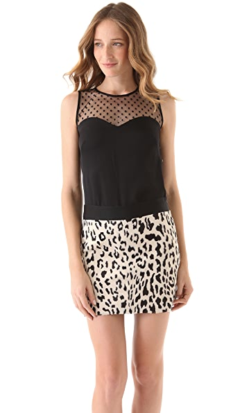 Milly Sleeveless Top with Mesh