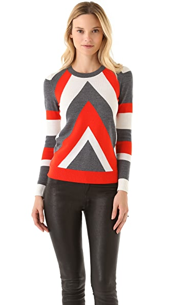 Milly Chevron Intarsia Sweater
