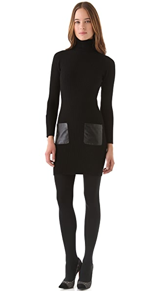 Milly Sweater Dress with Leather