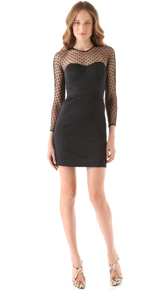 Milly Silk Mesh Dress