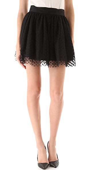 Milly Aspirin Dot Tulle Skirt