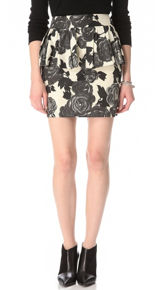 Milly Camellia Peplum Skirt