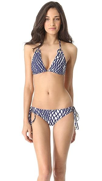 Milly Boca Eyelet Bikini Top
