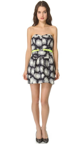 Milly Claudia Strapless Aster Dress