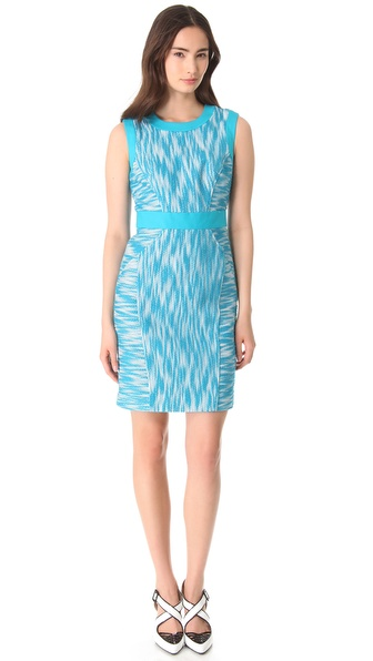 Milly Combo Trim Sheath Dress