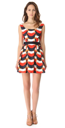 Milly Isabelle Scallop Print Dress