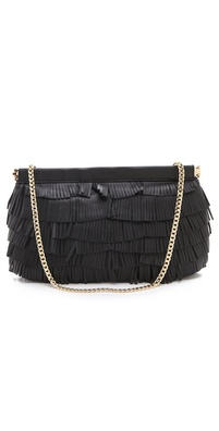 Milly Nikki Oversized Fringe Clutch