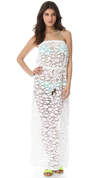 Milly Pahala Crochet Maxi Cover Up Dress