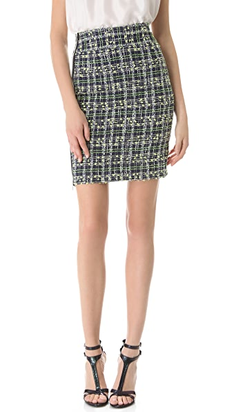 Milly Side Zip Pencil Skirt