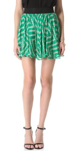 Milly Rissa Gathered Skirt