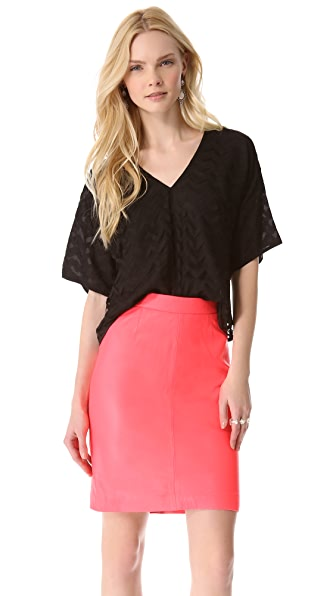 Milly Lucia Cropped Chevron Top