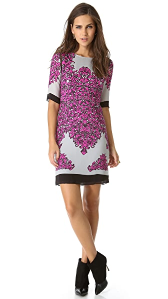 Milly Blaire Combo Shift Dress