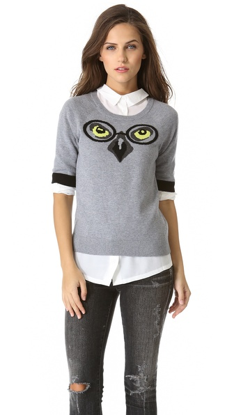 Milly Winston Intarsia Owl Sweater